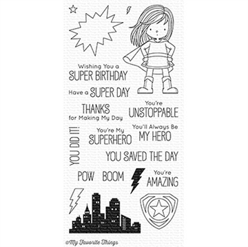 Happymade - My Favorite Things clear stamp set - You're Super (BB-53)